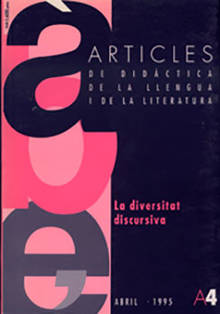 REVISTA ARTICLES - 004 (ABRIL 95) - La diversitat discursiva