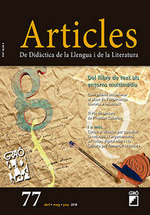 REVISTA ARTICLES - 077 (ABRIL 18) - Del llibre de text als entorns multimèdia